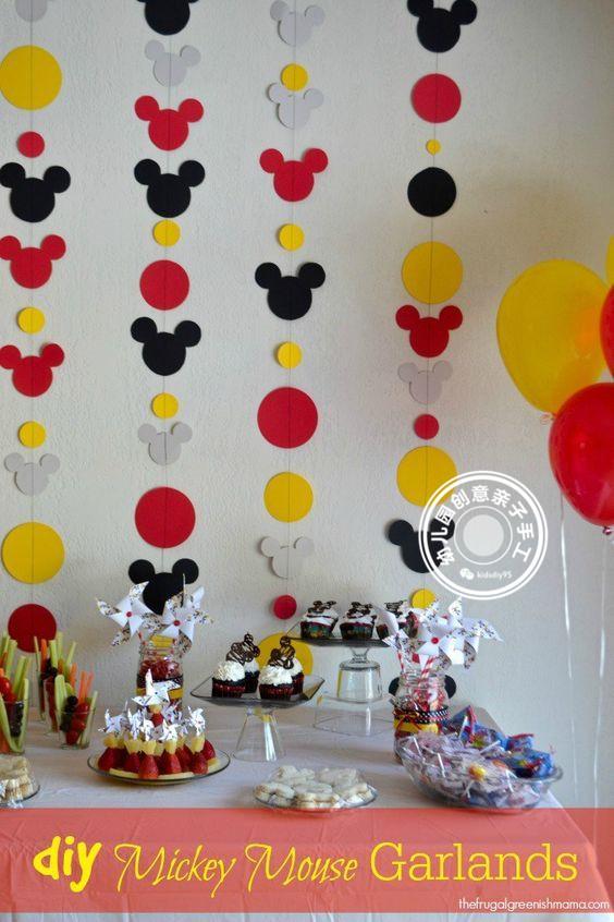 迪士尼米奇主题派对,环创布置 手工制作,新年或新学期