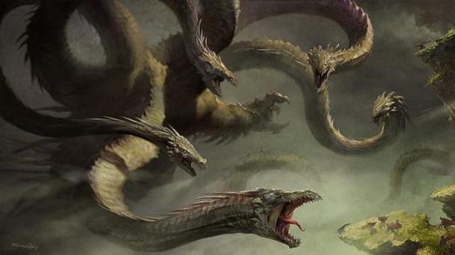 中國上古神話中的九頭神獸,日本...